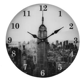 Argos Home New York Skyline Glass Clock
