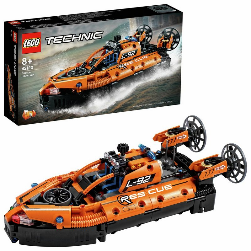 LEGO Technic Rescue Hovercraft and Plane 2 in 1 Set 42120 from Argos
