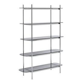 Habitat Neo 5 Tier Shelving Unit - Chrome
