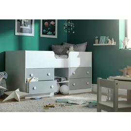 Argos Home Jackson Shorty Cabin Bed & Mattress - White &Grey