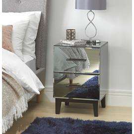 Argos Home Palm Luxe 2 Drawer Bedside Table