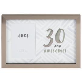 Hotchpotch Luxe 30th Birthday Photo Frame