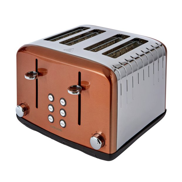Buy Cookworks Pyramid 4 Slice Toaster - Copper | Toasters | Argos