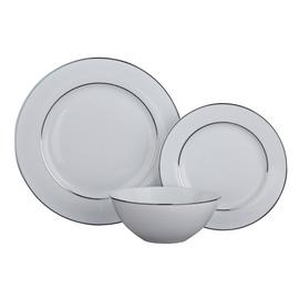 Argos Home Luxe 12 Piece Dinner Set - Platinum
