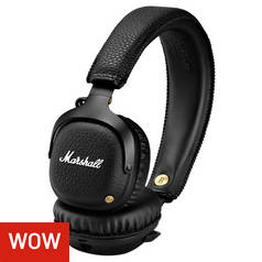 Marshall Mid On-Ear Wireless Headphones - Black 05af46d361202
