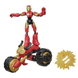 Marvel Bend & Flex, Flex Rider Iron Man & 2-In-1 Motorcycle