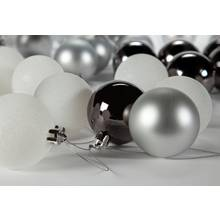 Argos Home Winters Cabin Silver Baubles - 48 Pack