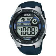 Lorus Men's Blue Silicone Strap Watch