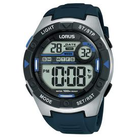 Lorus Men's Blue Silicone Strap Watch