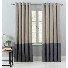 Argos Home Printed Border Lined Eyelet Curtains