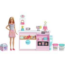 Barbie Cake Bakery Decorating Playset with Doll
