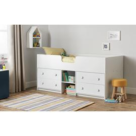 Argos Home Jackson White Mid Sleeper Bed & Mattress