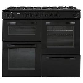 Bush BRC100DHEB 100cm Duel Fuel Range Cooker - Black