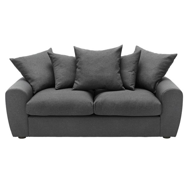Buy Argos Home Billow 3 Seater Fabric Sofa Grey | Sofas | Argos