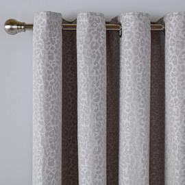 Argos Home Jacquard Lined Eyelet Curtains