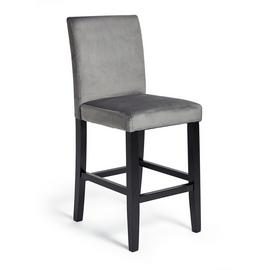Argos Home Winslow Velvet Bar Stool - Grey