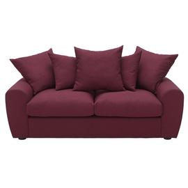 Argos Home Billow 3 Seater Fabric Sofa - Red