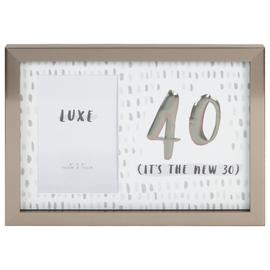 Hotchpotch Luxe 40th Birthday Photo Frame - Grey