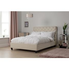 Argos Home Bouton Upholstered Double Bed Frame - Natural