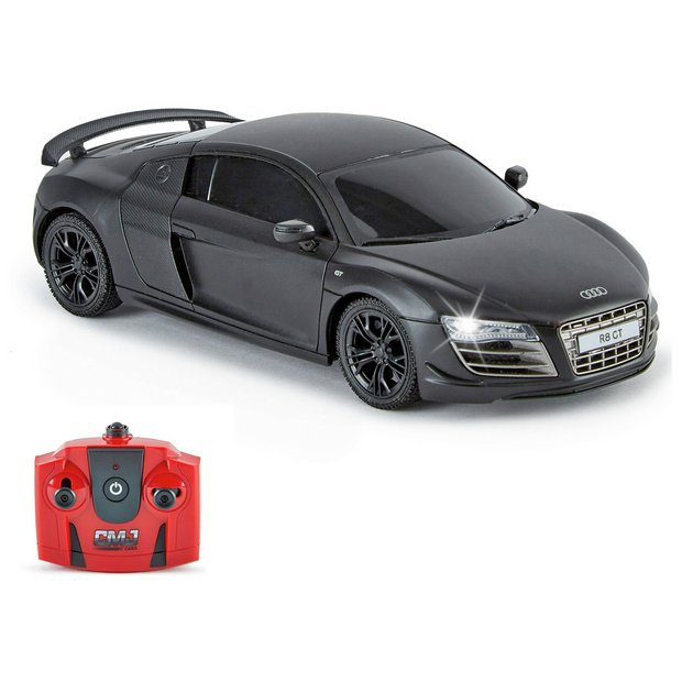 Buy Radio Controlled Audi R8 GT Scale 1:24 Black Matte 2.4GHZ | Radio controlled cars | Argos
