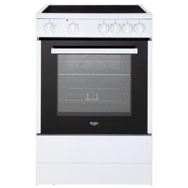 Bush B60SCWX 60cm Single Electric Cooker - White Best Price, Cheapest Prices