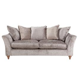 Argos Home Buxton 4 Seater Fabric Sofa - Truffle