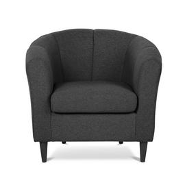 Argos Home Ayres Fabric Tub Chair - Charcoal