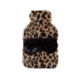 Leopard Print Hot Water Bottle & Eye Mask