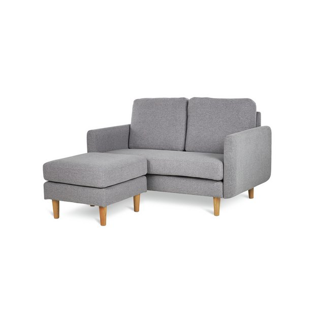 Buy Argos Home Remi 2 Seater Fabric Chaise in a Box Light Grey   Sofas   Argos