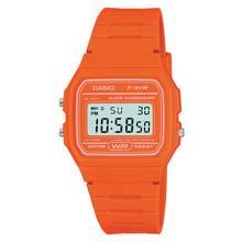 Casio Ladies Orange Resin Strap Watch