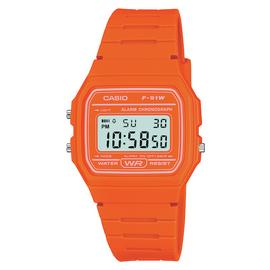 Casio Ladies Orange Resin Strap Watch