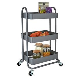 Argos Home 3 Tier Metal Trolley - Grey