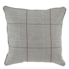 Argos Home Brancaster Check Cushion - Grey
