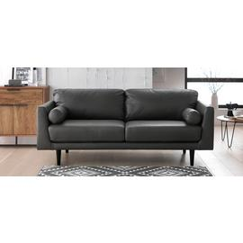 Argos Home Jackson 3 Seater Leather Sofa - Grey