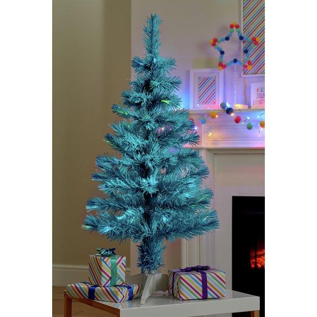 Christmas Tree Picture.Buy Argos Home 3ft Fibre Optic Christmas Tree Blue Artificial Christmas Trees Argos