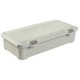 Curver Rattan Style 42L Wheeled Plastic Underbed Storage Box