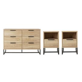 Argos Home Nomad 2 Bedside Tables & 3+3 Drawer Chest Set