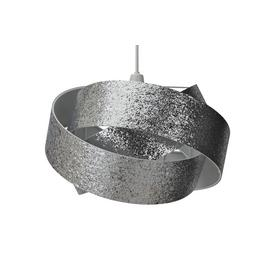 Argos Home Glitter Ribbon Shade - Silver