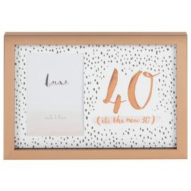 Hotchpotch Luxe 40th Birthday Photo Frame - Rose Gold