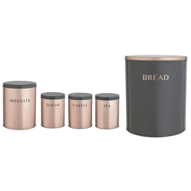 Buy Argos Home 5 Piece Storage Set Rose Gold Storage Jars And Sets Argos