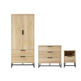 Argos Home Nomad 3 Pc 2 Door Wardrobe Set - Light Oak Effect