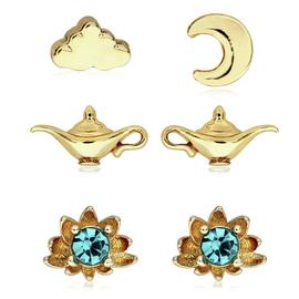 Disney Gold Coloured Aladdin Studs - Set of 3