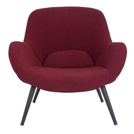 Argos Home Ollie Fabric Accent Chair - Red