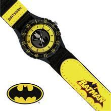 DC Comics Childrens Batman Black Fabric Strap Watch