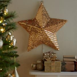 Argos Home Gold Sequin Wall Mounted Star Light