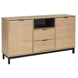 Argos Home Industrial Pine 2 Door 2 Drawer Sideboard-Natural