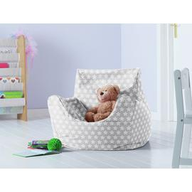 Argos Home Kids Funzee Silver Stars Bean Bag