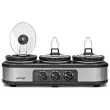 Gourmet GTSC002 Triple 3.9L Slow Cooker - Grey