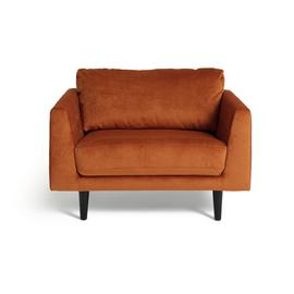 Argos Home Jackson Velvet Cuddle Chair - Orange
