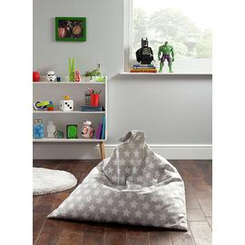 Argos Home Triangle Silver Stars Bean Bag